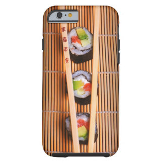 Sushi and wooden chopsticks tough iPhone 6 case