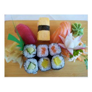Sushi Asia Fish Rice Food Postcard