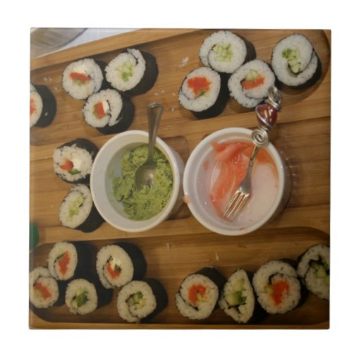 sushi azulejo cuadrado pequeño