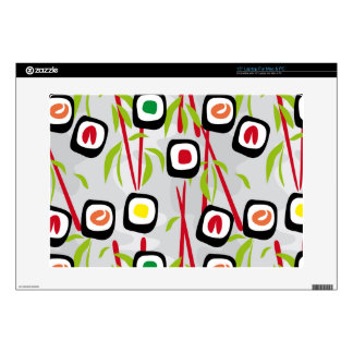 Sushi background decals for laptops