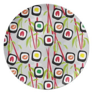 Sushi background melamine plate