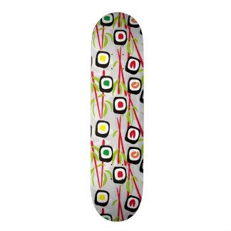 Sushi background skateboard deck