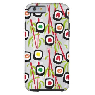 Sushi background tough iPhone 6 case