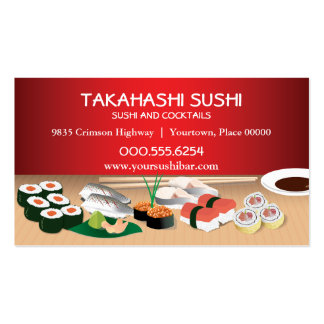 Sushi Bar Double-Sided Standard Business Cards (Pack Of 100)