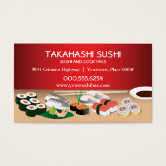Sushi Bar Business Card