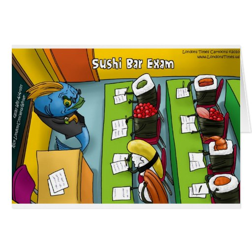 Sushi Bar Exam Funny Tees Mugs Gifts Etc. Cards
