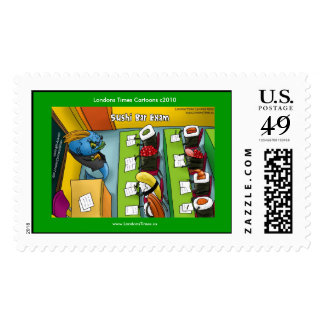 Sushi Bar Exam Real U.S. Funny Postage Stamps Postage Stamp
