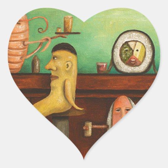 Sushi Bar Heart Sticker