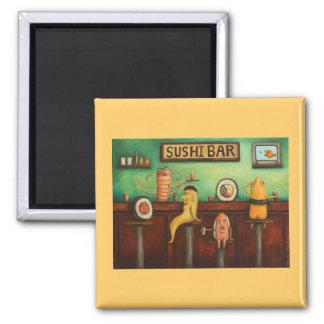 Sushi Bar 2 Inch Square Magnet