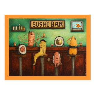 Sushi Bar Post Card