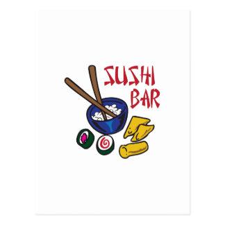 SUSHI BAR POST CARD