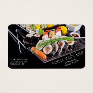 sushi bar restaurant business card