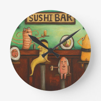 Sushi Bar Round Clock