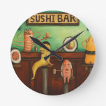 Sushi Bar Round Clocks