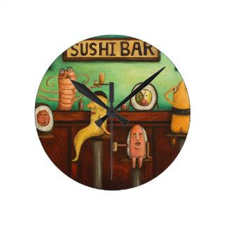 Sushi Bar Round Clocks