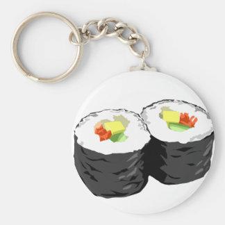 Sushi Basic Round Button Keychain