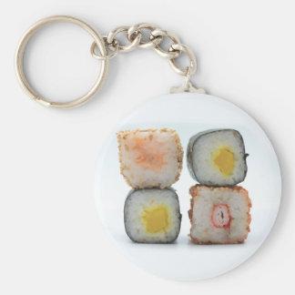 Sushi! Basic Round Button Keychain