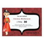 """Sushi Birthday 5"""" X 7"""" Invitation Card"""