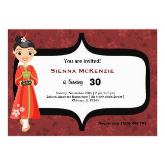 Sushi Birthday Custom Invitations