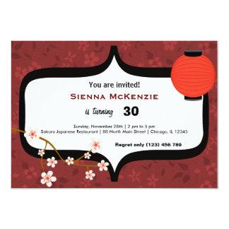 Sushi Birthday 5x7 Paper Invitation Card