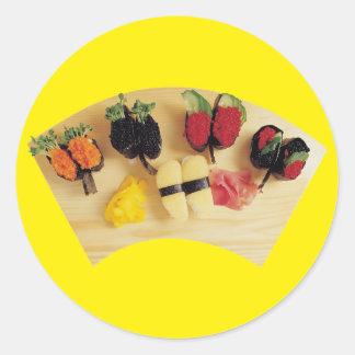 Sushi Board Classic Round Sticker