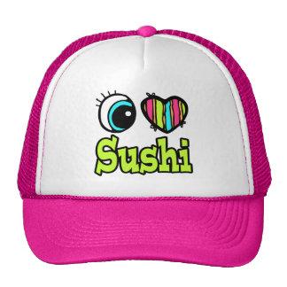 Sushi brillante del amor del corazón I del ojo Gorro