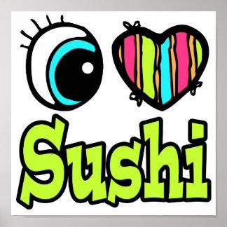 Sushi brillante del amor del corazón I del ojo Impresiones
