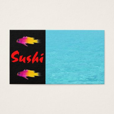 Professional Business Sushi Business Card