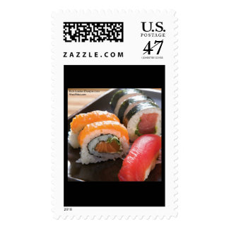 Sushi & Ca Roll MIx Print Real USPS Postage Stamps