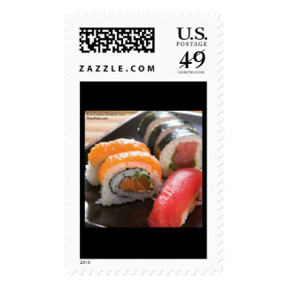 Sushi Ca Roll MIx Print Real USPS Postage Stamps Postage Stamp