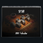 """Sushi Calendar<br><div class=""""desc"""">A year of delicious sushi dishes for the Japanese food lover.</div>"""