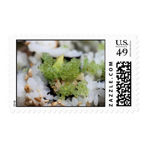 sushi california roll stamps