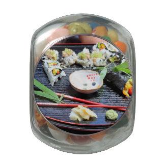 Sushi Glass Jars