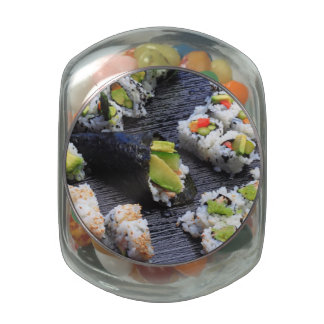 Sushi Jelly Belly Candy Jars