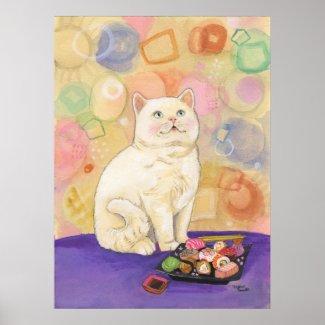 Sushi Cat 1980 Daydream Print