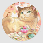 Sushi  Cat- Dessert First colorful Stickers