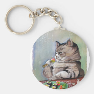 Sushi Cat Fancy Feast Keychain