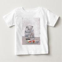 Sushi Cat Grumps Baby T-Shirt