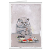 Sushi Cat Grumps Card