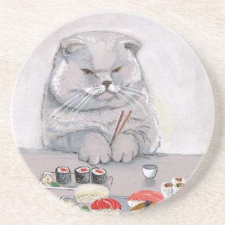 Sushi Cat Grumps Coaster
