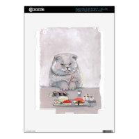 Sushi Cat Grumps iPad 3 Skin