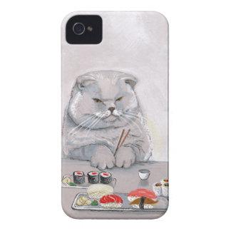 Sushi Cat Grumps iPhone 4 Case-Mate Case