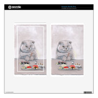 Sushi Cat Grumps Skins For Kindle Fire