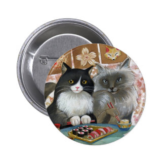 Sushi Cat Lovely Pair 2 Inch Round Button
