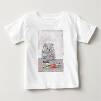 Sushi Cat Mr. Grumps ©CSiravo Baby T-Shirt