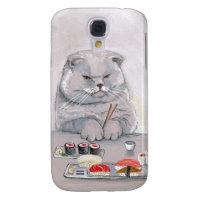 Sushi Cat Mr. Grumps ©CSiravo Galaxy S4 Cover