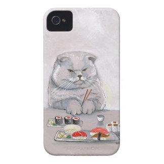 Sushi Cat Mr. Grumps ©CSiravo iPhone 4 Case-Mate Case