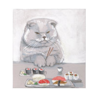 Sushi Cat Mr. Grumps ©CSiravo Notepad