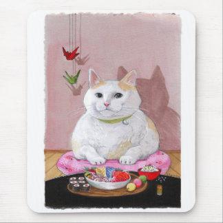 Sushi Cat Sashimi Kitty! Mouse Pad
