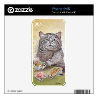 Sushi Cat Tempura Udon iPhone 4S Skin